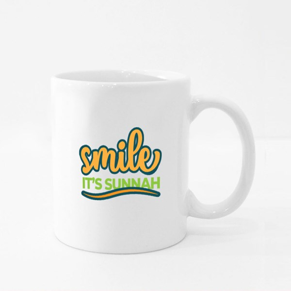 Smile It's Sunnah Colour Mugs