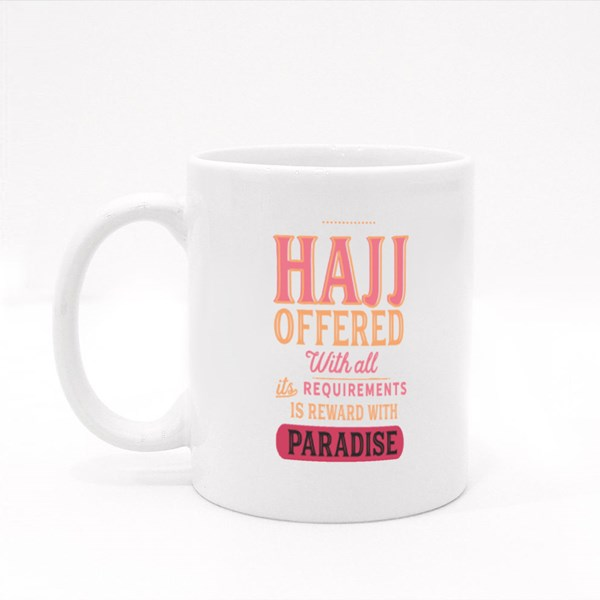 Hajj Offered With All Colour Mugs