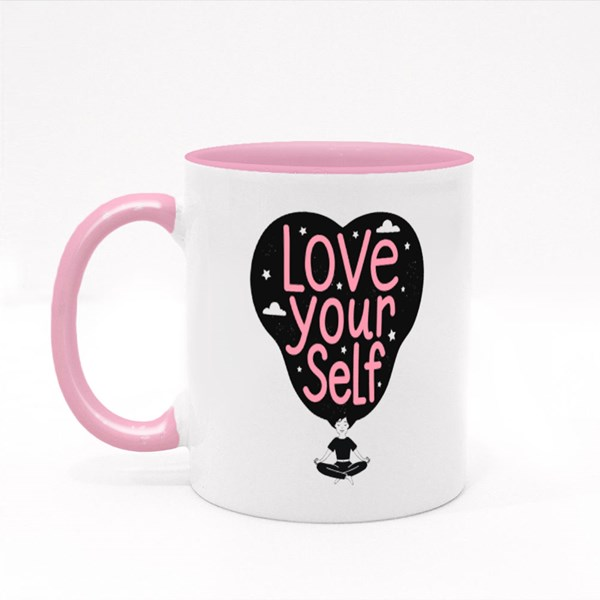 Love Yourself . Colour Mugs