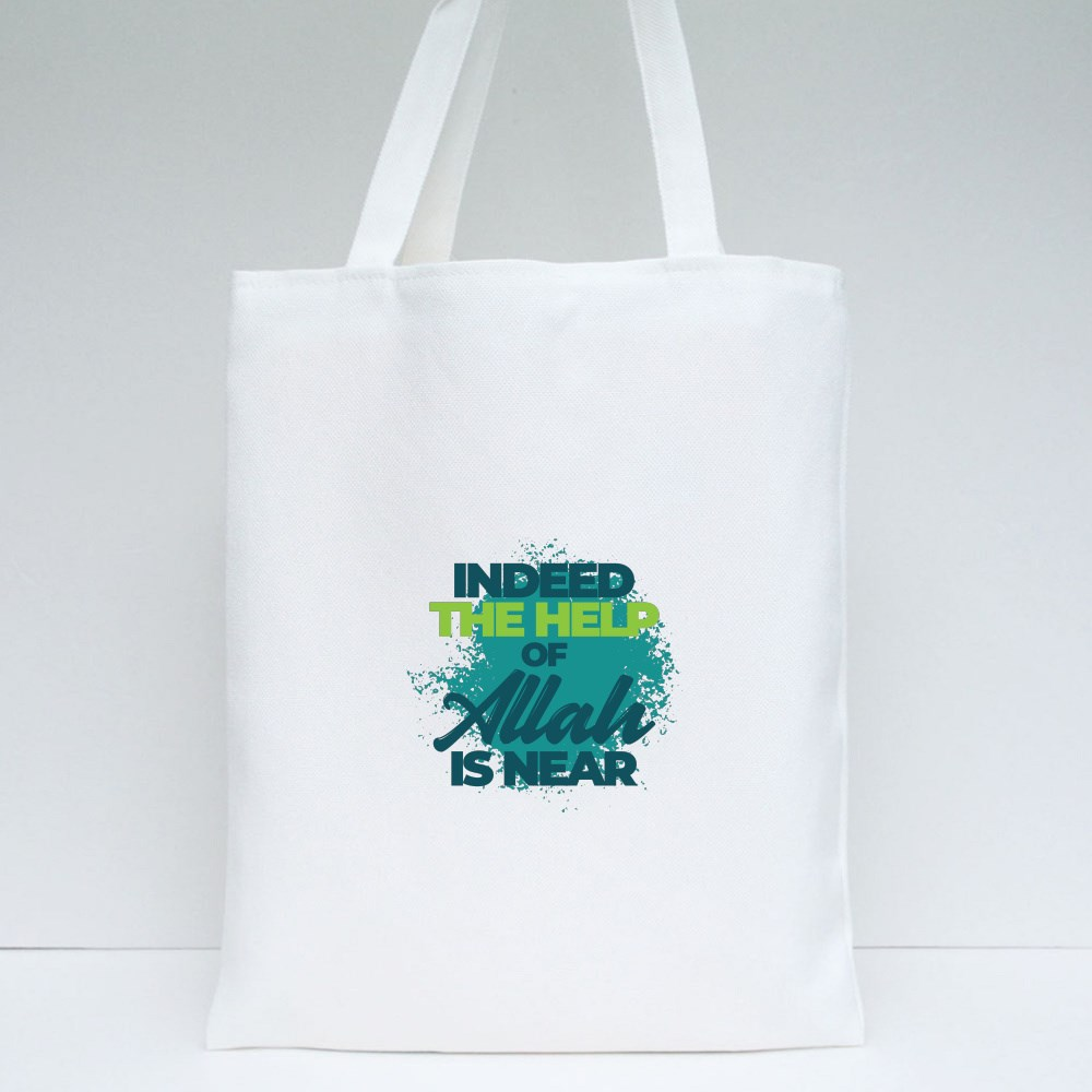 Indeed the Help of Allah Tote Bags