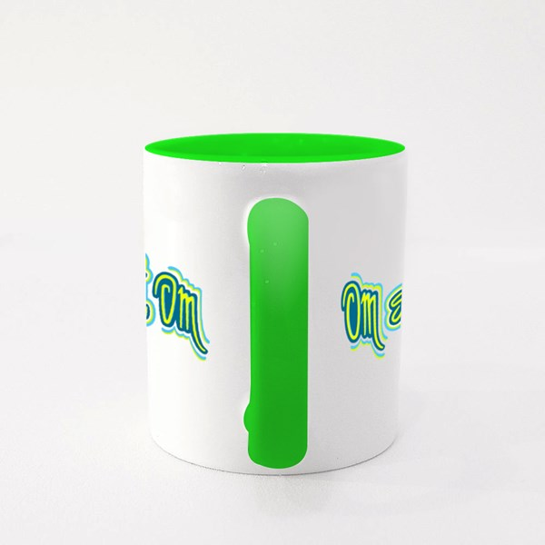 Om Sweet Om Letters Colour Mugs