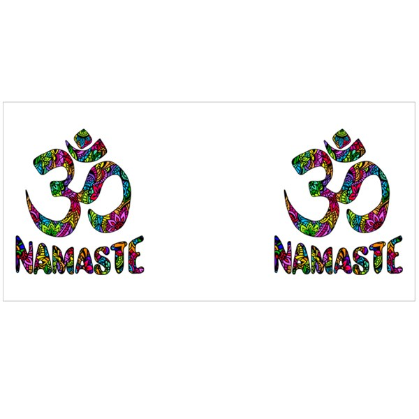 Om and Namaste on Pattern Colour Mugs