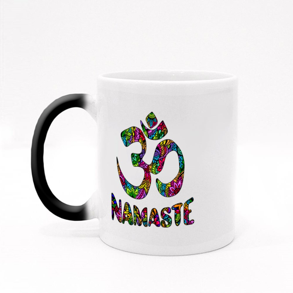 Om and Namaste on Pattern Magic Mugs