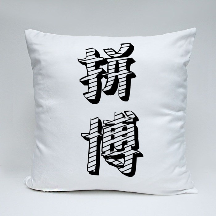 Chinese Character Fight 拼搏 Life Is Hard, Have to Fight Throw Pillows