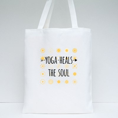 Yoga Heals the Soul Tote Bags