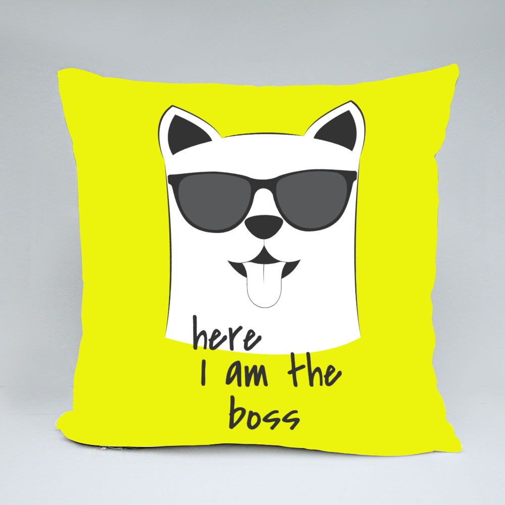 Here I Am the Boss Throw Pillows