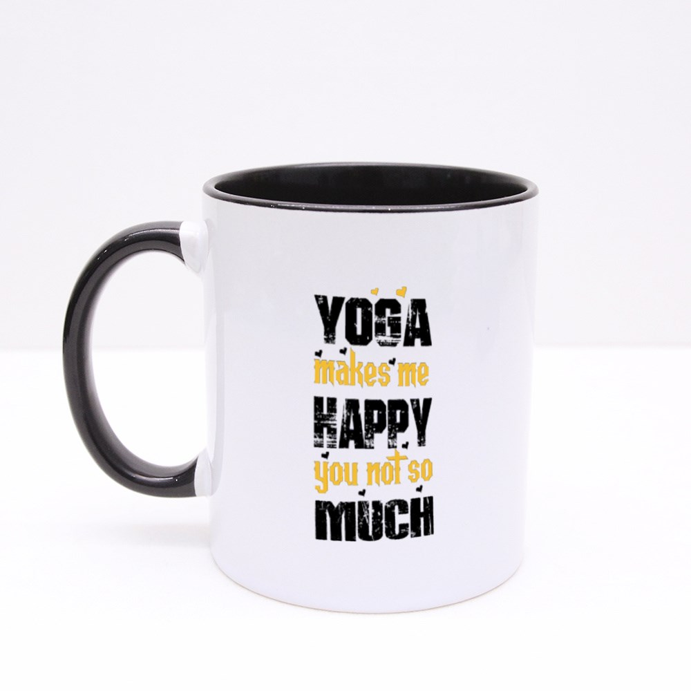 Yoga Makes Me Happy Colour Mugs