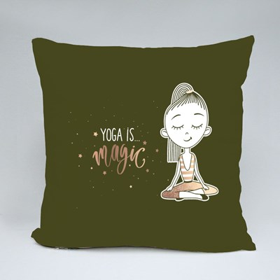Yoga Is Magic for All Throw Pillows