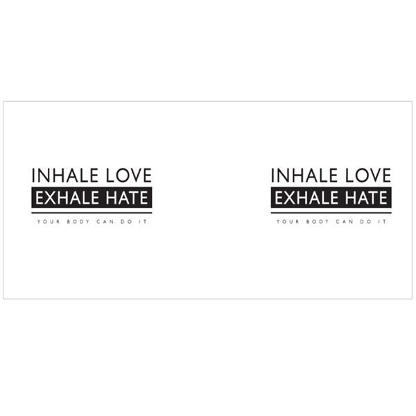 Inhale Love Exhale Hate Colour Mugs