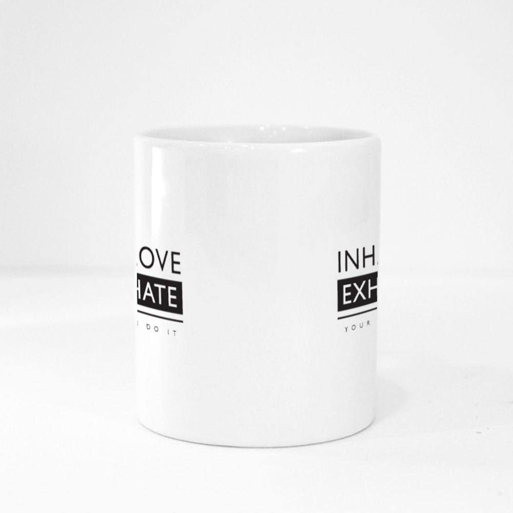 Inhale Love Exhale Hate Magic Mugs