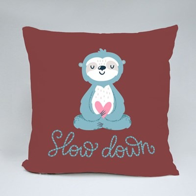 Slow Down Sloth Throw Pillows