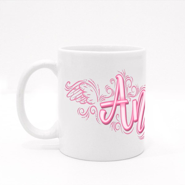 Angel With Angelic Wings and Colour Mugs