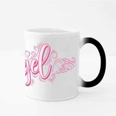 Angel With Angelic Wings and Magic Mugs