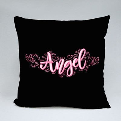 Angel With Angelic Wings and Throw Pillows