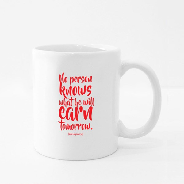 No One Knows What He'll Earn Colour Mugs