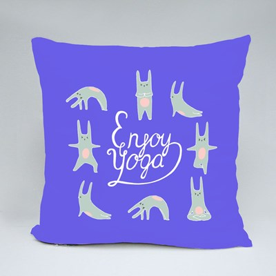Enjoy Doing Yoga Throw Pillows