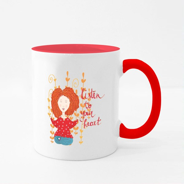 Listen to Your Heart Colour Mugs