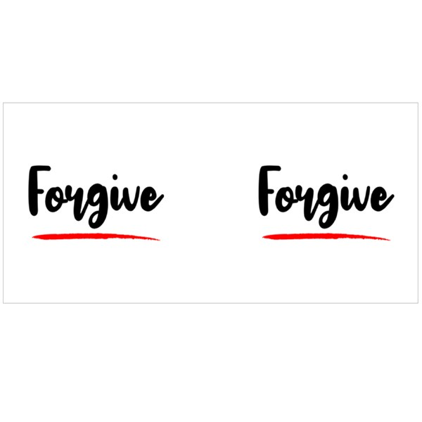 Forgive Calligraphy Style Colour Mugs