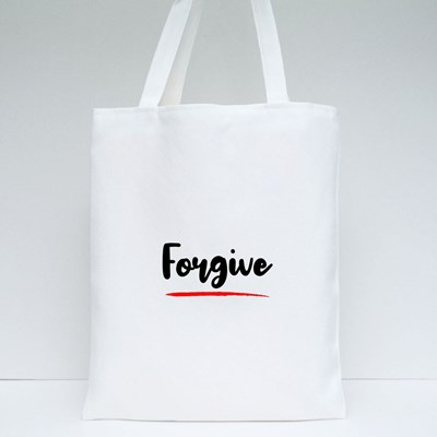 Forgive Calligraphy Style Tote Bags