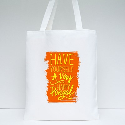 Have a Very Happy Pongal Tote Bags