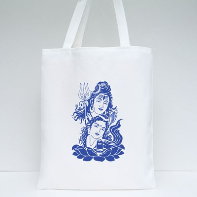 Lord Shiva and Parvati Tote Bags