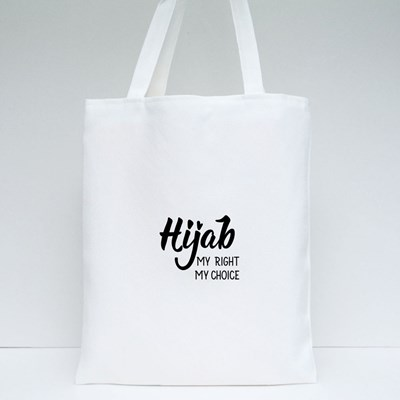 Hijab My Right My Choice Tote Bags