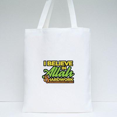 I Believe in Allah Tote Bags