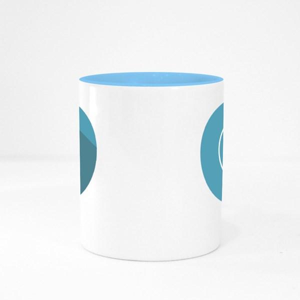 Thin Linear Taoism Outline Colour Mugs