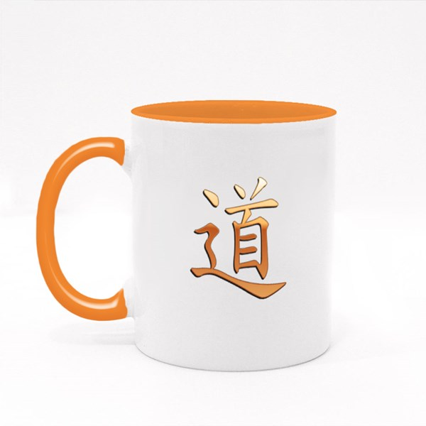 Gold Chinese Calligraphy Colour Mugs