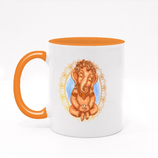 Lord Ganesha Holds a Lotus Colour Mugs