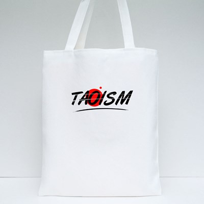 Taoism Text Word Tote Bags