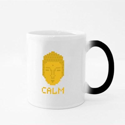 Calm Pixel Buddha Magic Mugs