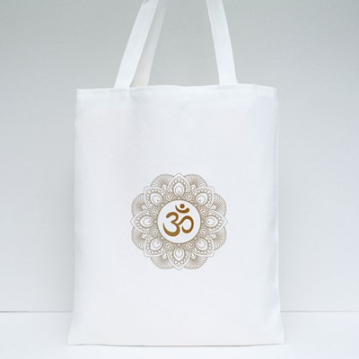 Golden Aum Om Ohm Tote Bags