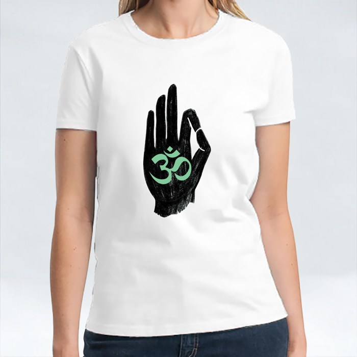 Om Hand Sign for Budhist T-Shirts