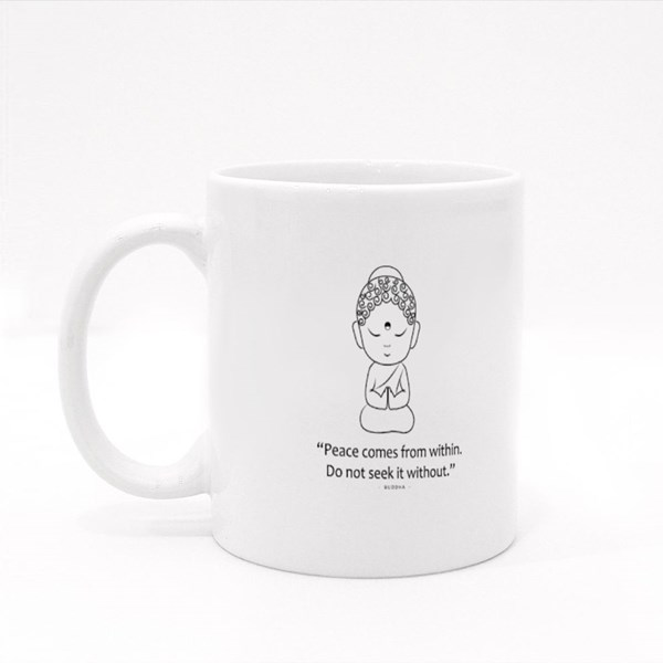 Peace Comes from Within Colour Mugs