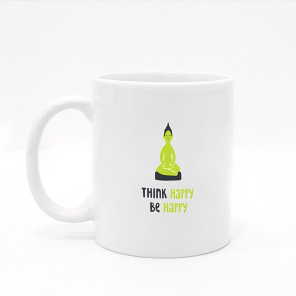 Think Happy Be Happy Colour Mugs