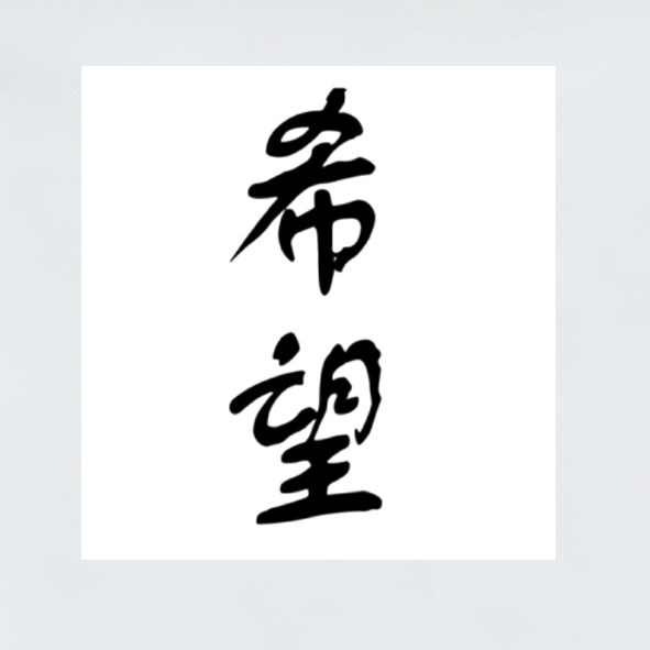 Chinese Character Hope 希望 Hope Is Everywhere Stickers (Square)