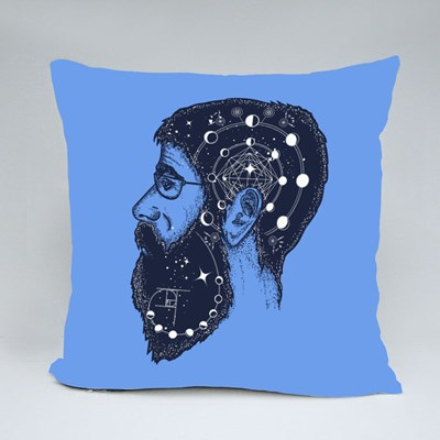 Scientist Tattoo Throw Pillows