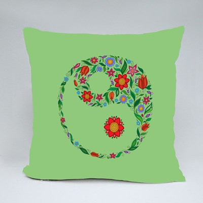 Flower in the Crown of Leaves Throw Pillows