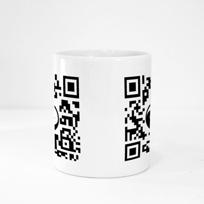 Smartphone Readable Qr Code Magic Mugs
