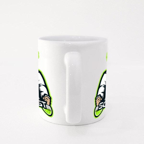Scientist Mascot Logo Colour Mugs