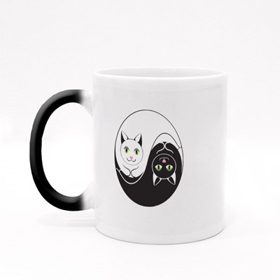 Cats Yin Yang Symbol Magic Mugs