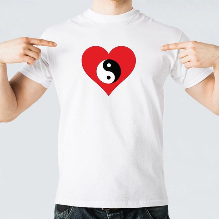 Yin Yang Red Heart. T-Shirts