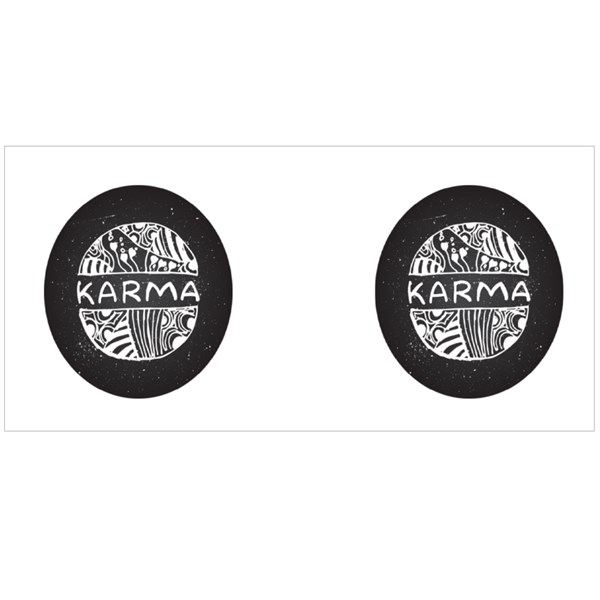 Karma Sign on Chalkboard Colour Mugs
