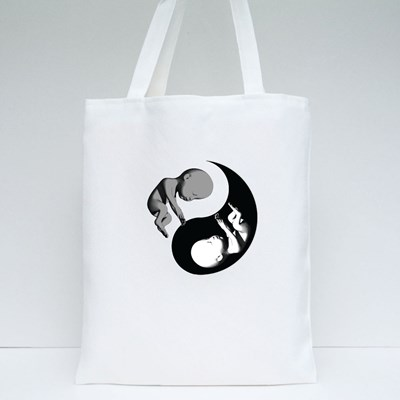 Yin Yang Chinese With Human Tote Bags