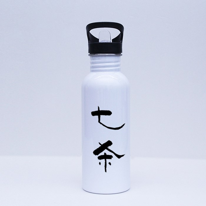 Chinese Character Seven Killings 七杀 the Wariror Sport Flasks