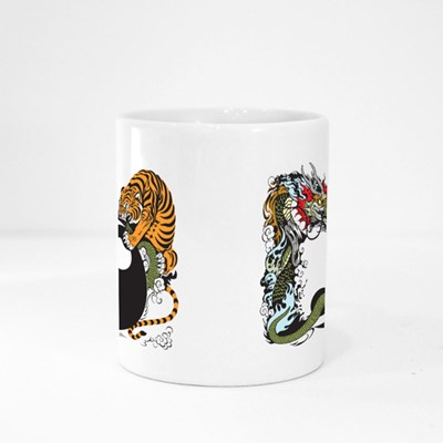 Dragon and Tiger Fight Magic Mugs