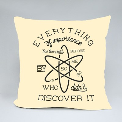 Everything Discover It Throw Pillows