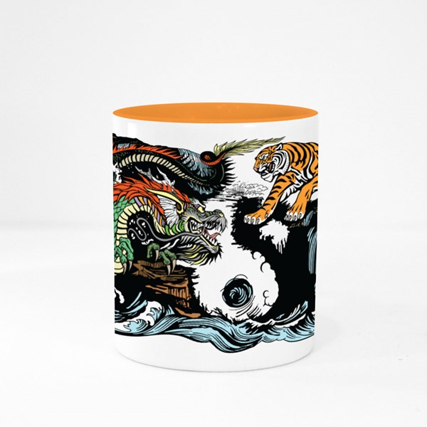 Green Chinese East Asian Colour Mugs