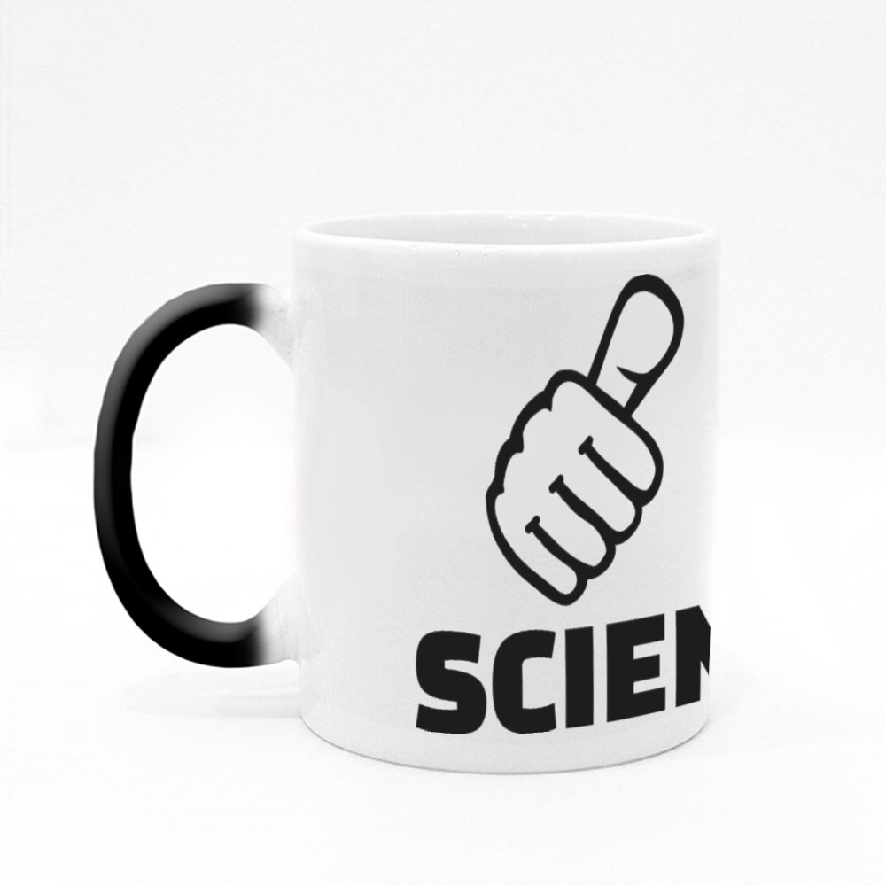 Scientist With Thumbs Magic Mugs